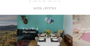 Wool Lifestyle Blog Screenshot