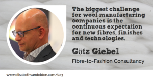 Interview with Goetz Giebel for Wool Academy Podcast Number 23