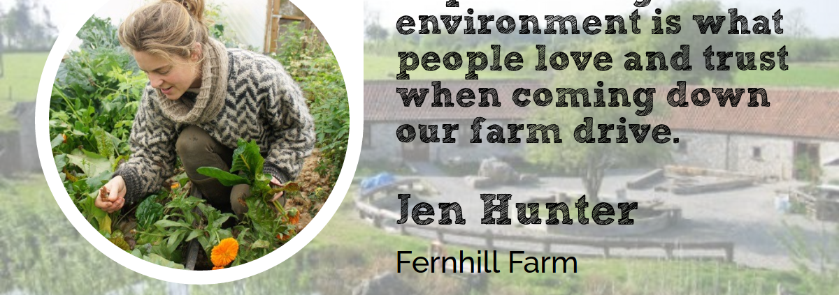 Jen Hunter from Fernhill Farm for Wool Academy Podcast 25