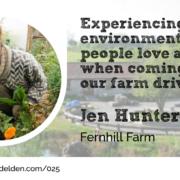 Jen Hunter from Fernhill Farm for Wool Academy Podcast 25